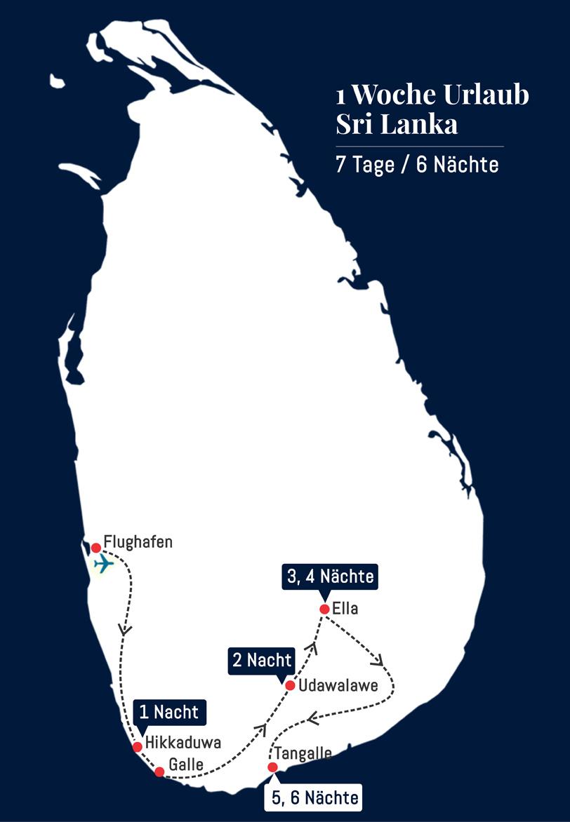 1 Woche Urlaub Sri Lanka - 7 Tage 6 Nächte