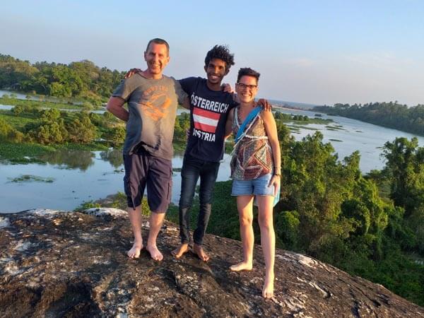 Deutschsprachiger Fahrer in Sri Lanka