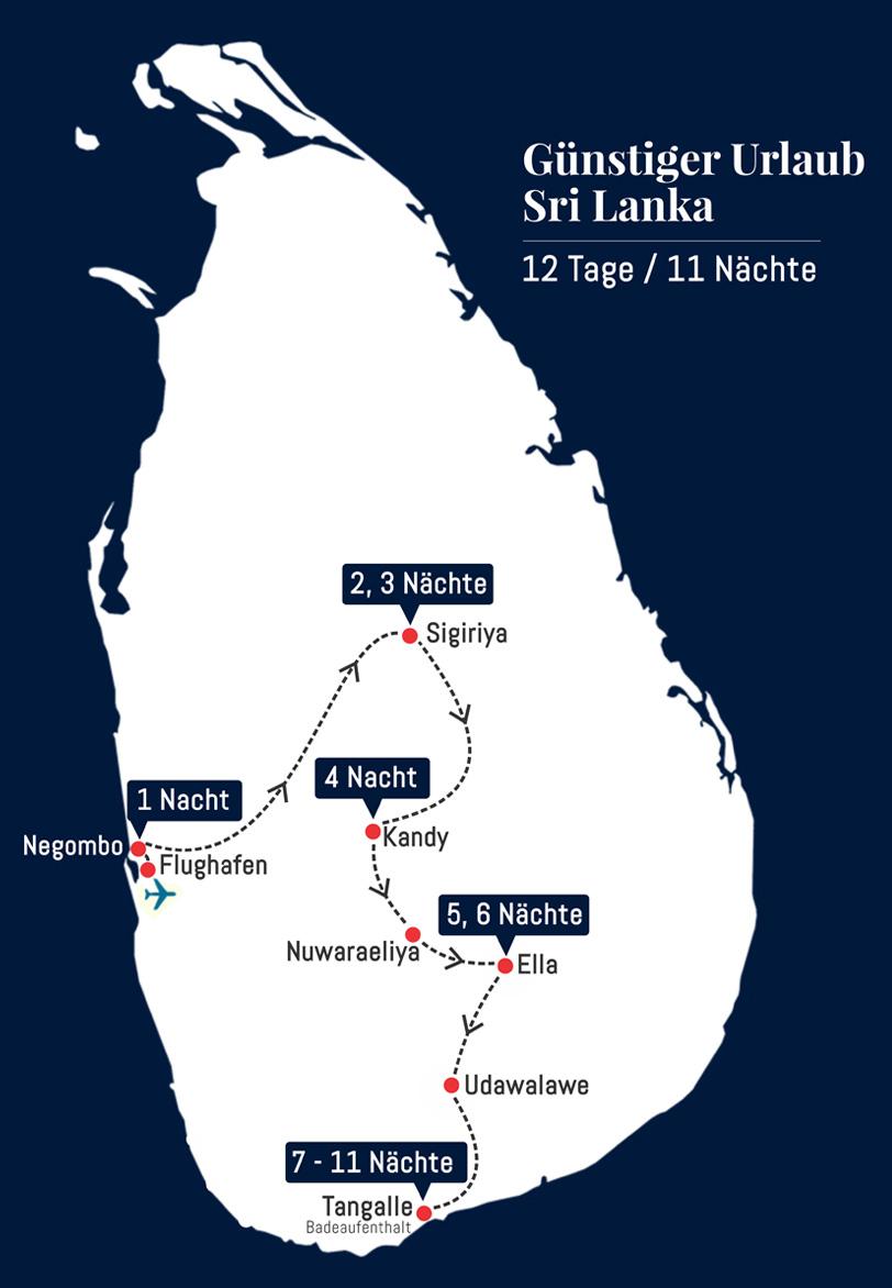 Günstiger Urlaub Sri Lanka - 12 Tage 11 Nächte