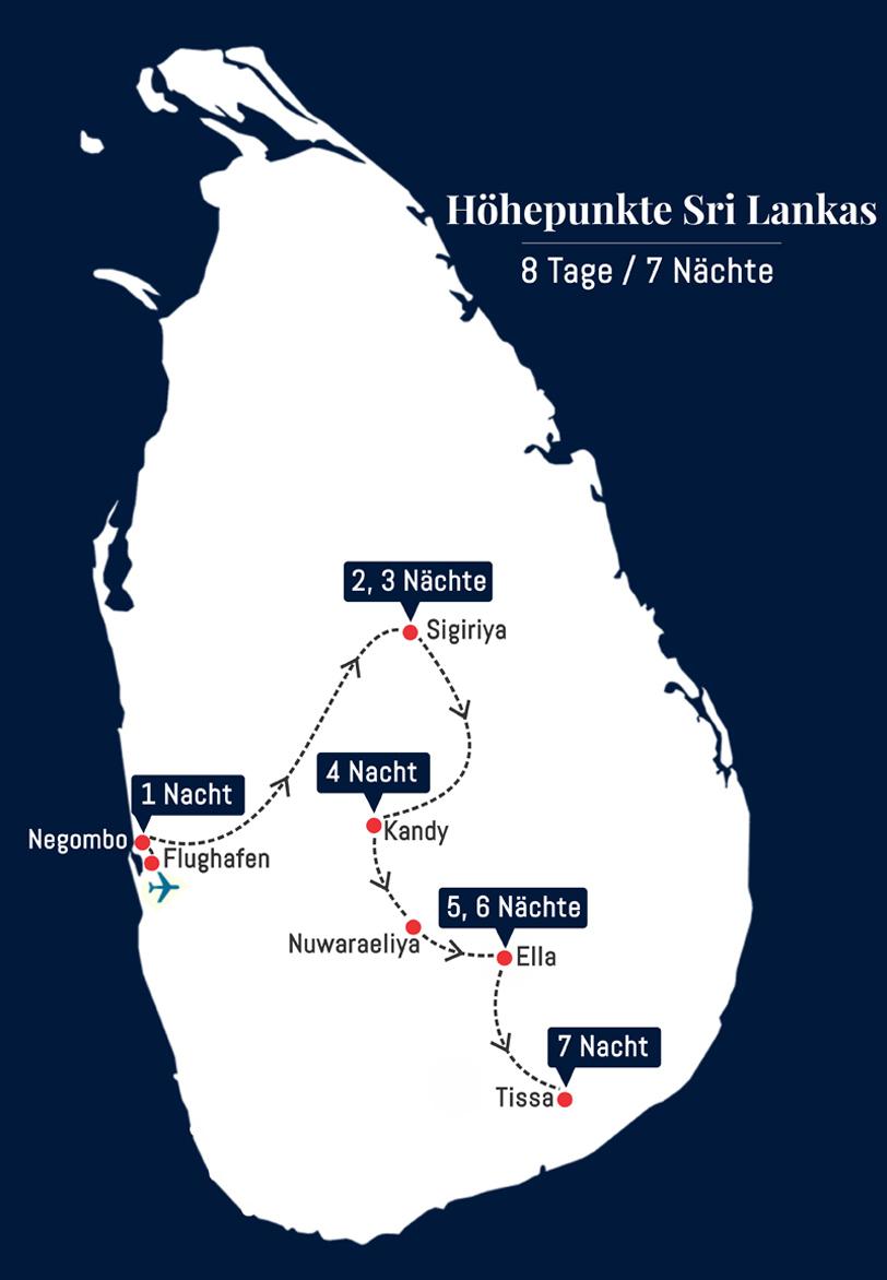 Höhepunkte Sri Lankas - 8 Tage – 7 Nächte
