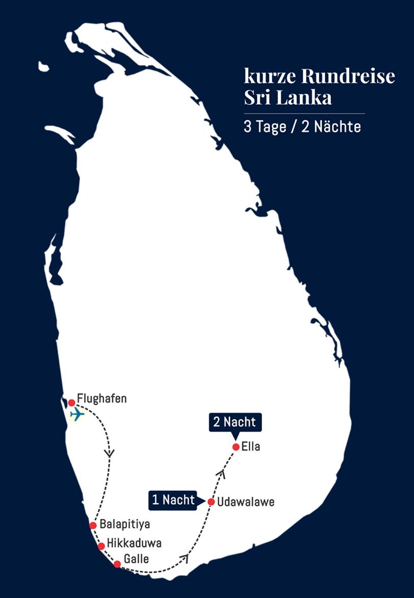 Kurztrip Sri Lanka - 3 Tage – 2 Nächte