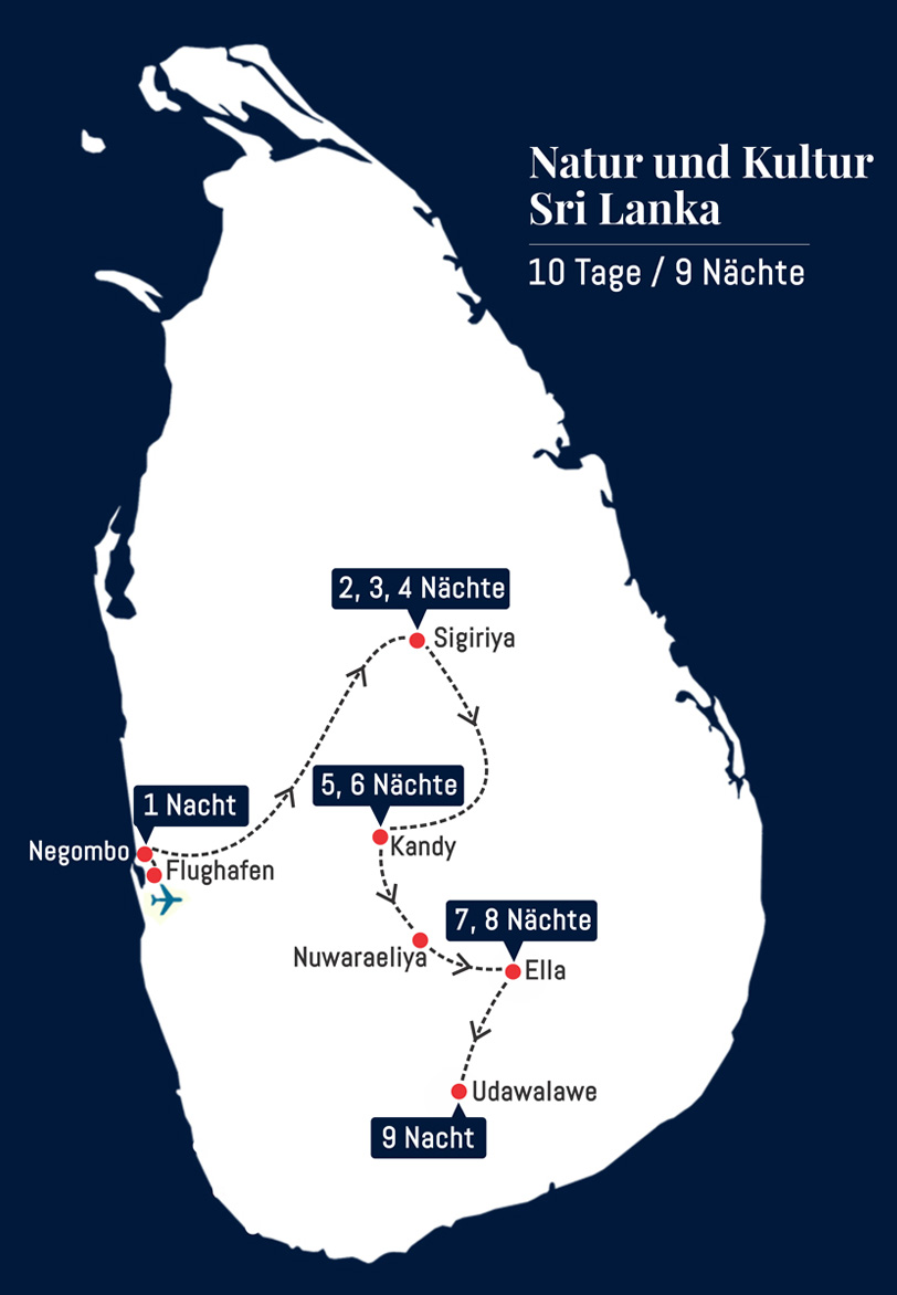 Natur und Kultur Sri lanka - 10 Tage – 9 Nächte