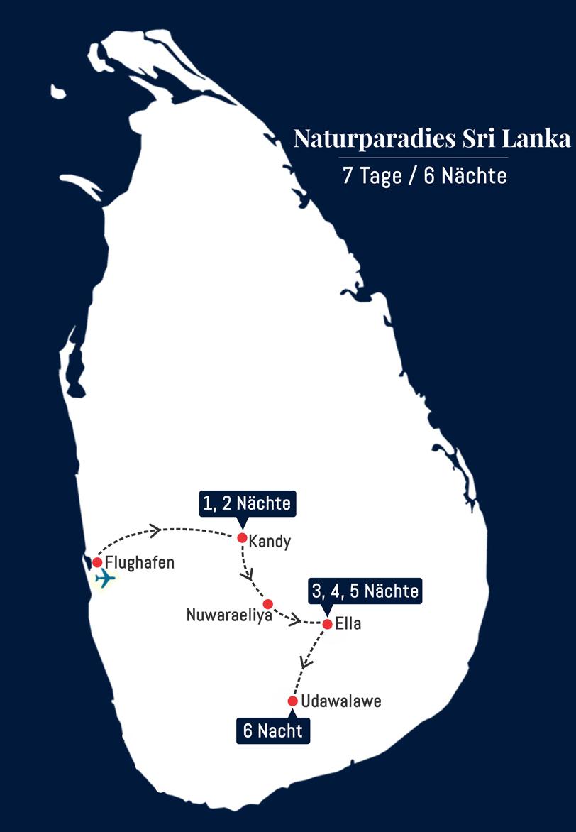 Naturparadies Sri Lanka - 7 Tage – 6 Nächte