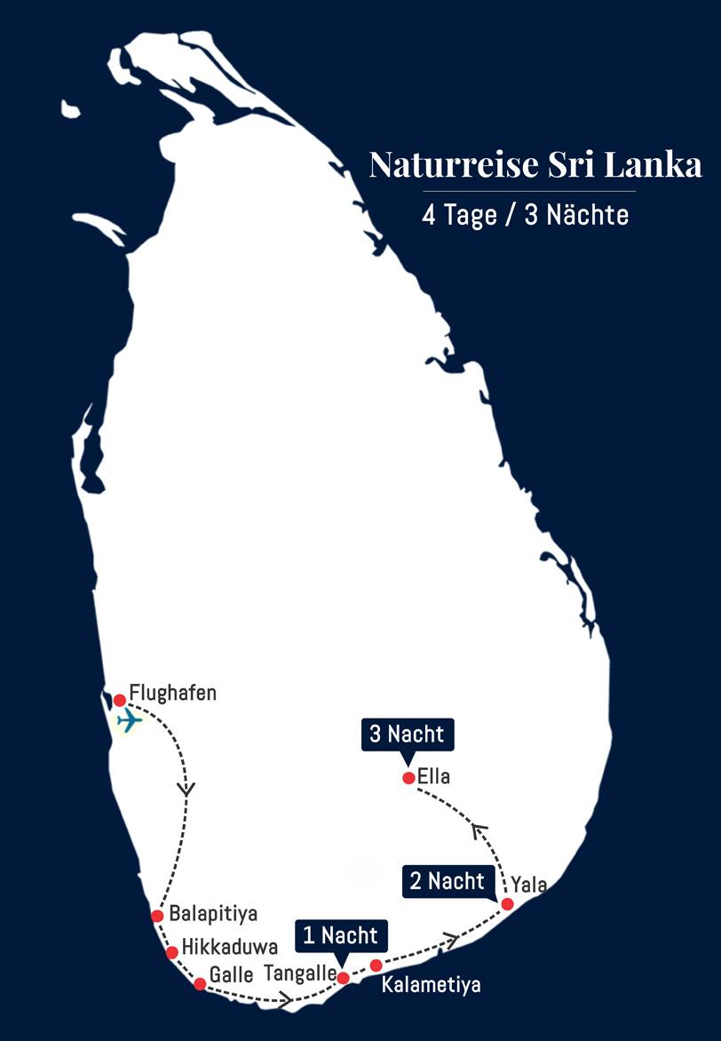 Naturreise Sri Lanka - 4 Tage – 3 Nächte