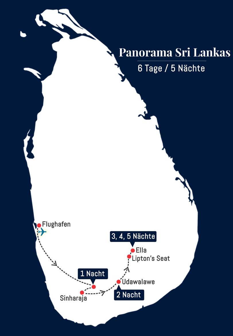 Panorama Sri Lankas - 6 Tage – 5 Nächte