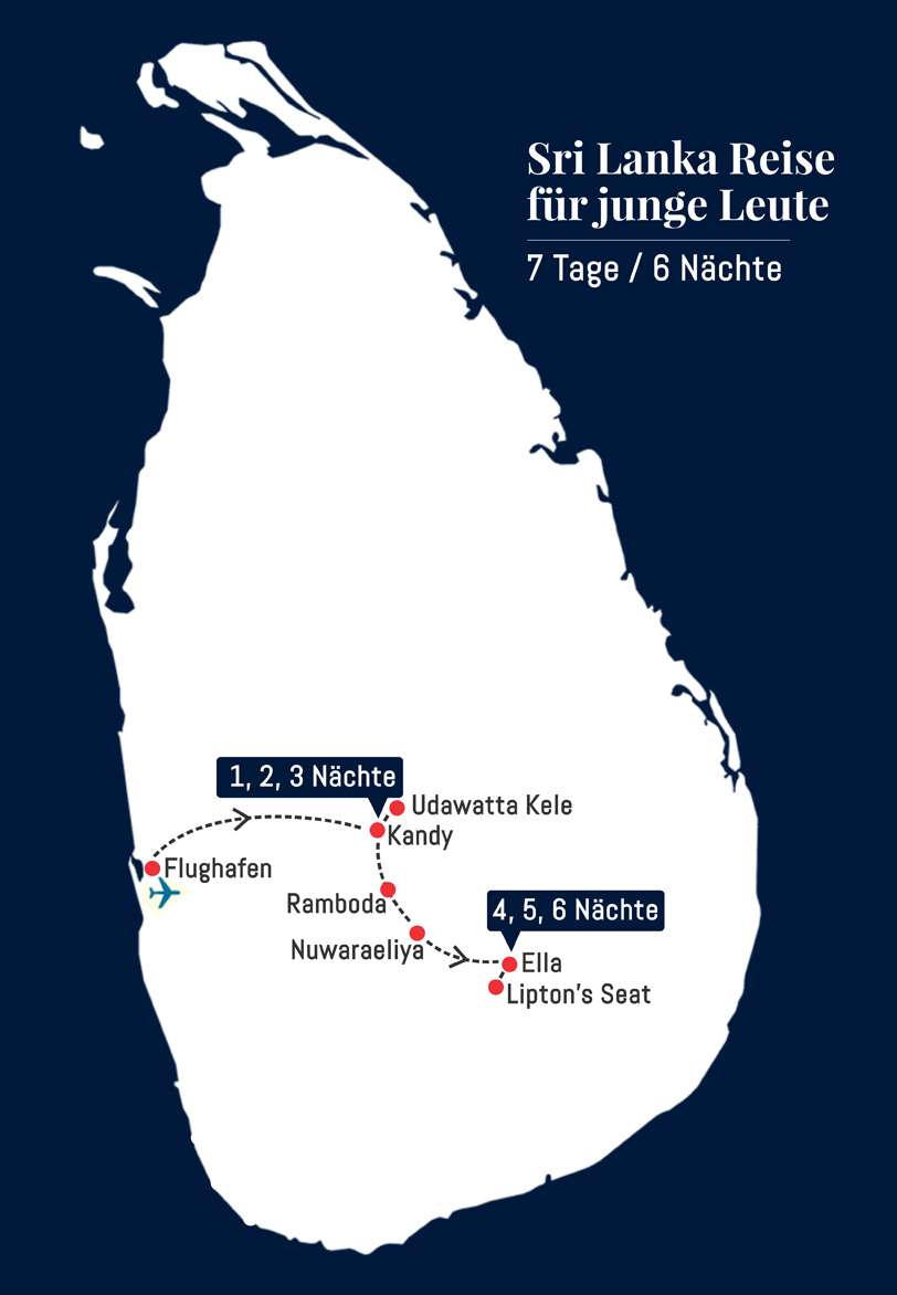 Sri Lanka Reise für junge Leute - 7 Tage 6 Nächte