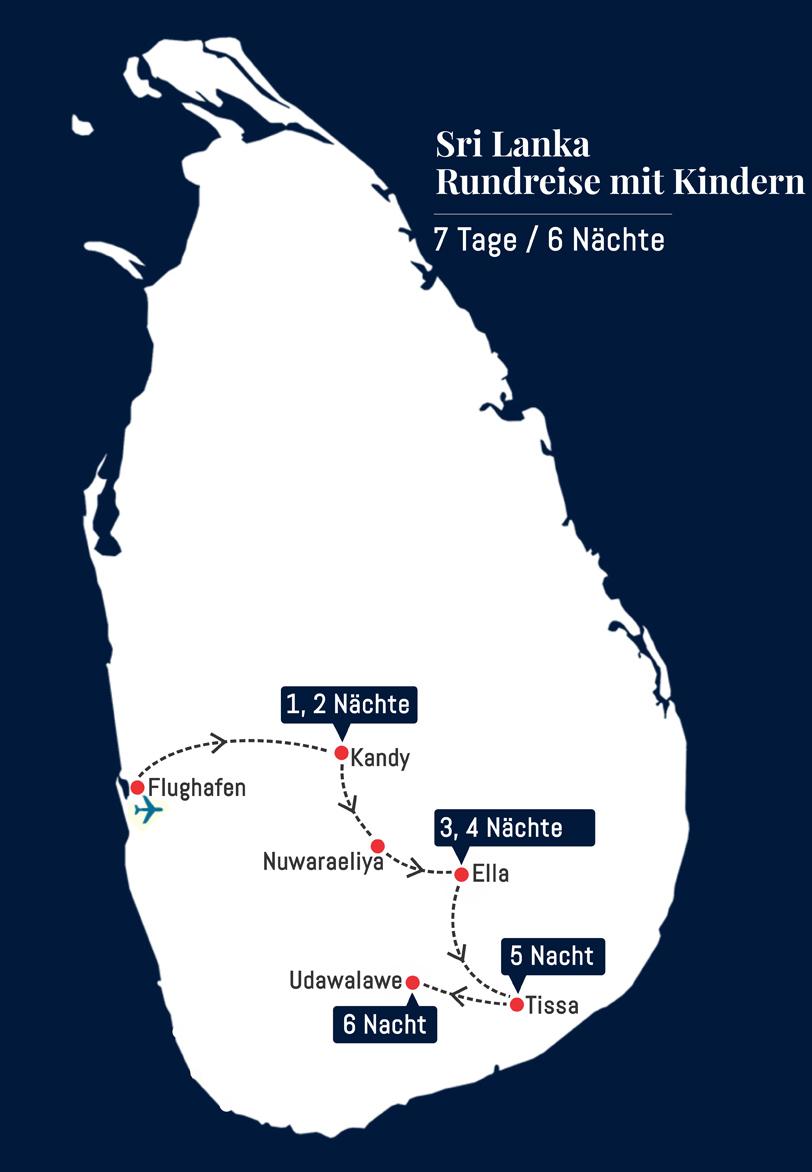 Sri Lanka Rundreise mit Kindern - 7 Tage 6 Nächte