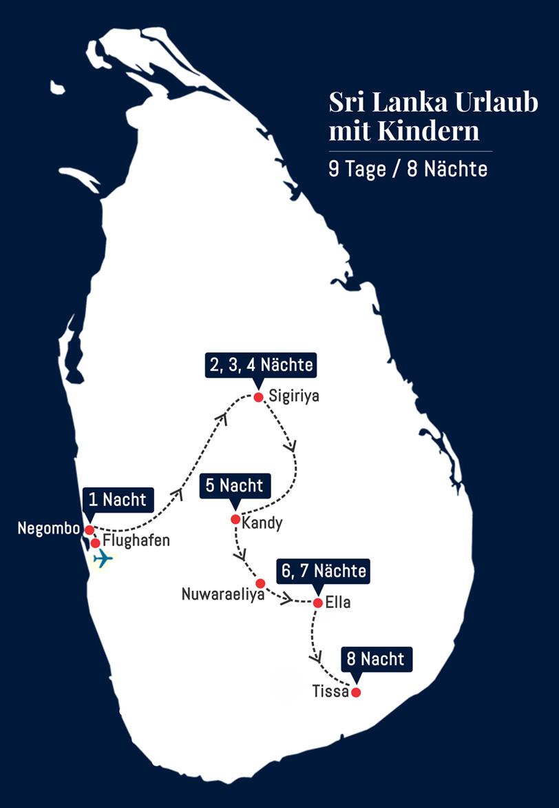 Sri Lanka Urlaub mit Kindern - 9 Tage 8 Nächte