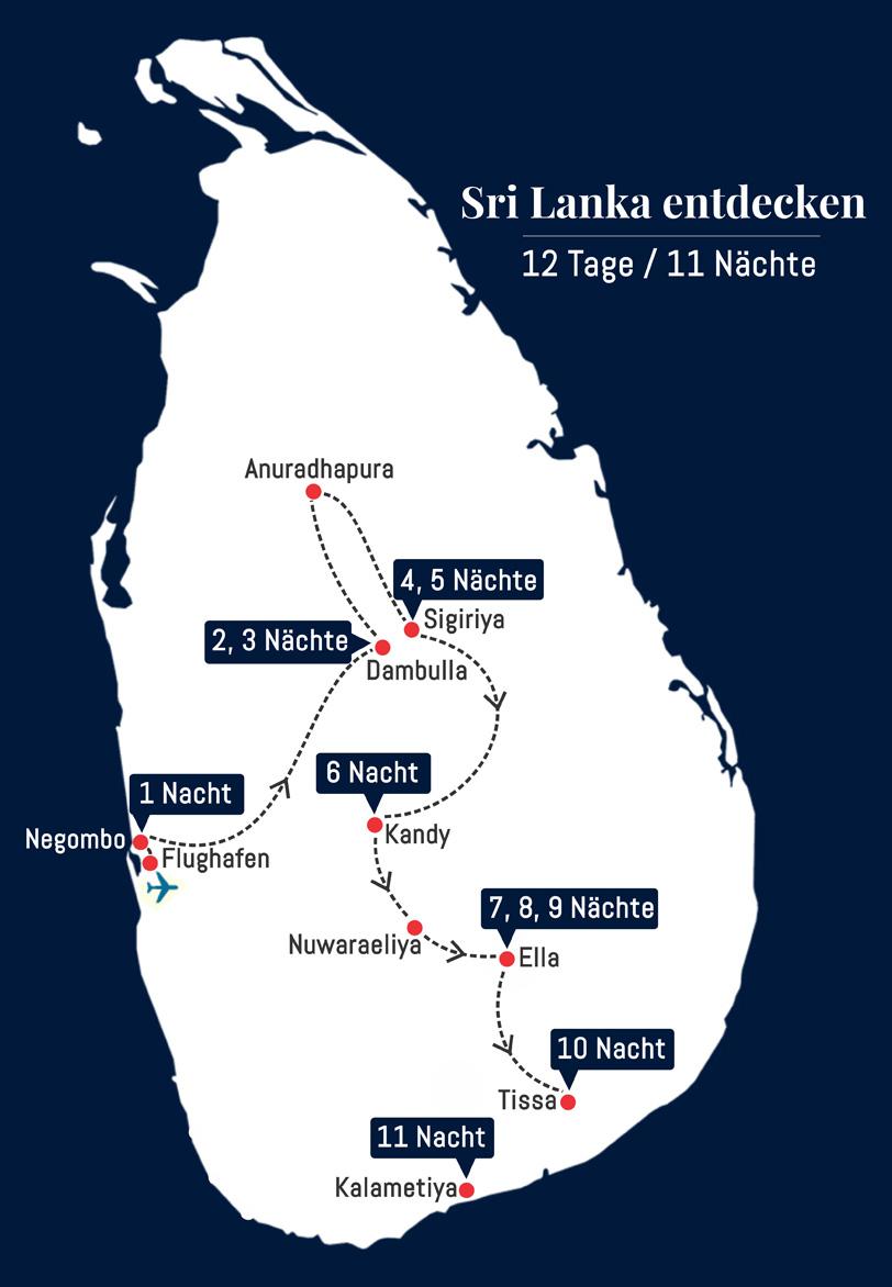 Sri Lanka individuell entdecken - 12 Tage – 11 Nächte
