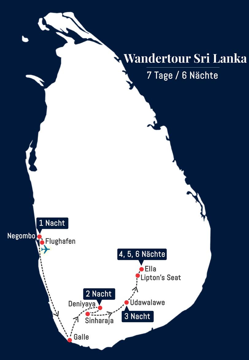 Wandertour Sri Lanka - 7 Tage 6 Nächte