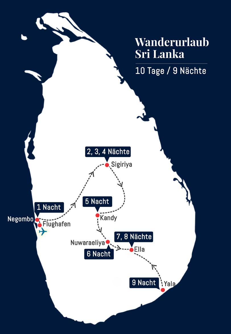 Wanderurlaub Sri Lanka - 10 Tage 9 Nächte